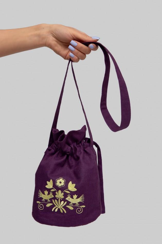 Вишита сумка овальна Violet