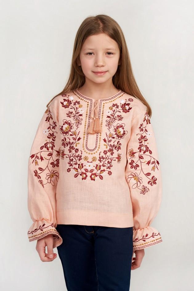 Вишита блуза для дівчинки Pink