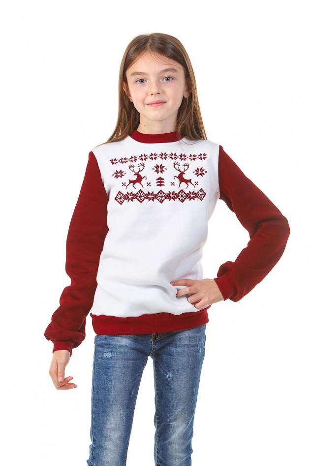 Різдвяний світшот для дівчаток з Оленями