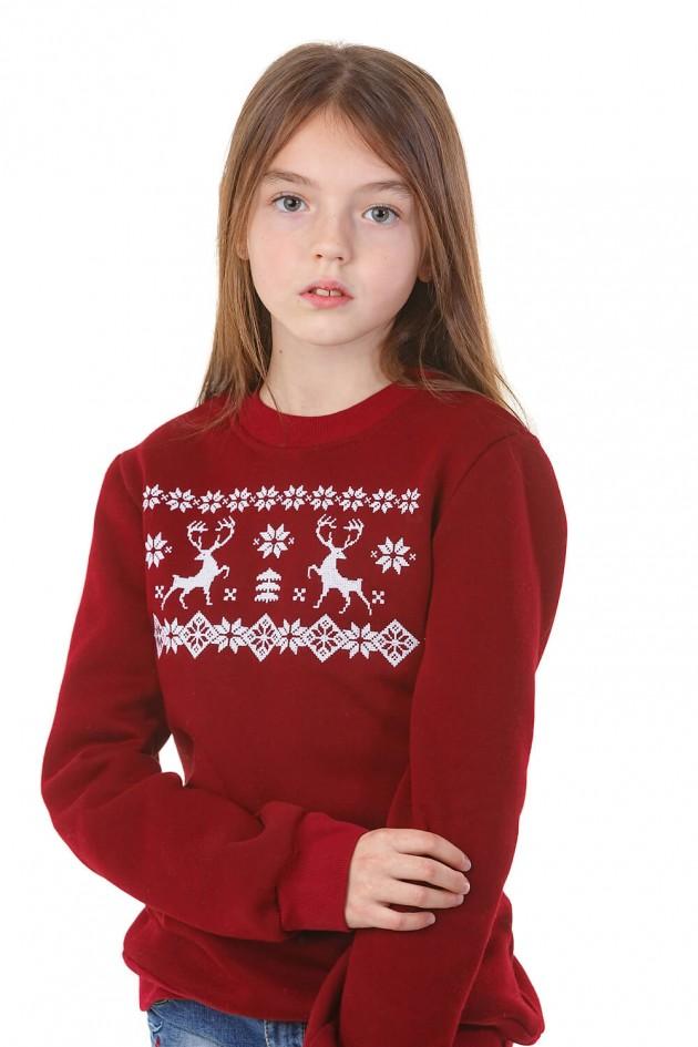 Різдвяний світшот для дівчинки з оленями