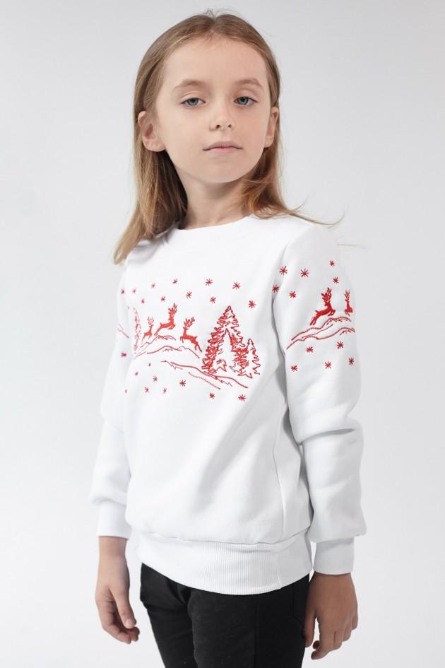 Різдвяний світшот для дівчинки Олені White