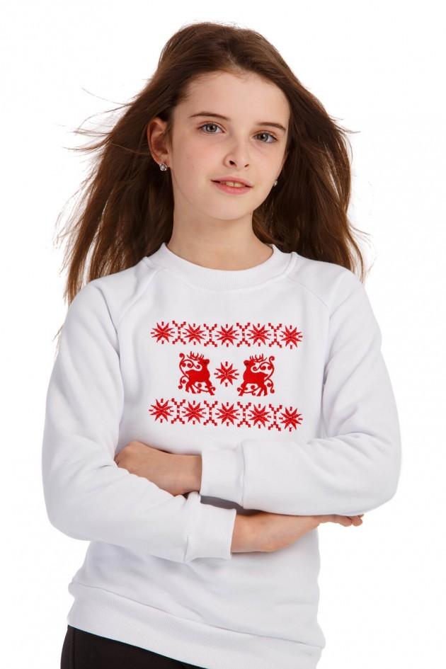 Різдввяний світшот для дівчаток з оленями