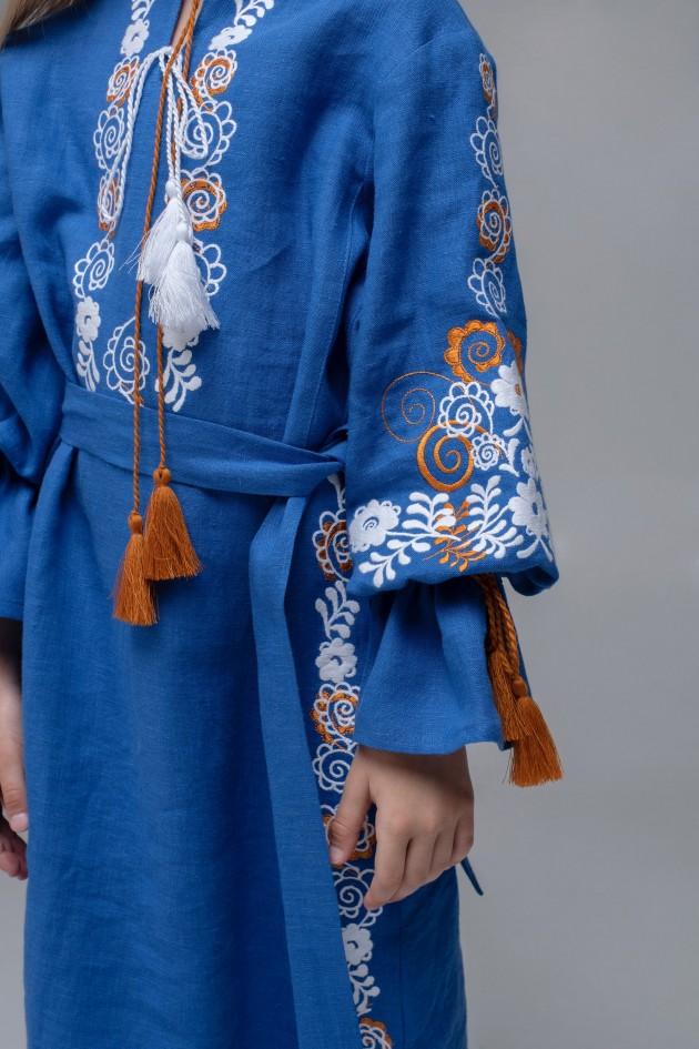 Вишита сукня для дівчинки Blue/Elektrik