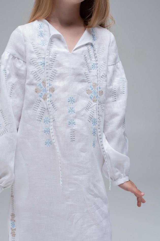 Вишита сукня White/Трійця