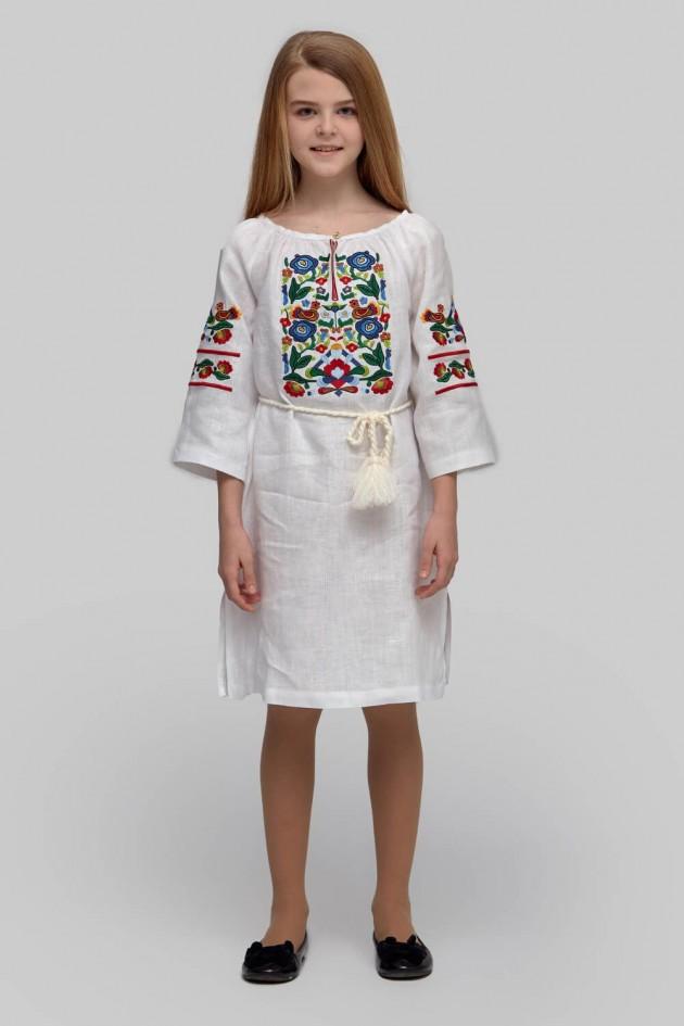 Вишита сукня вишиванка для дівчинки White 3