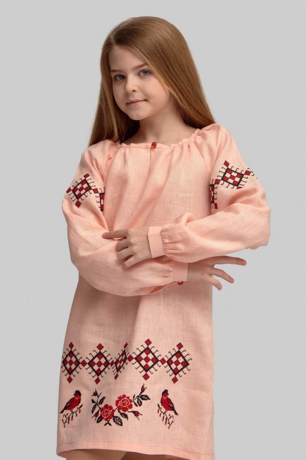 Вишита сукня вишиванка для дівчинки Рeach