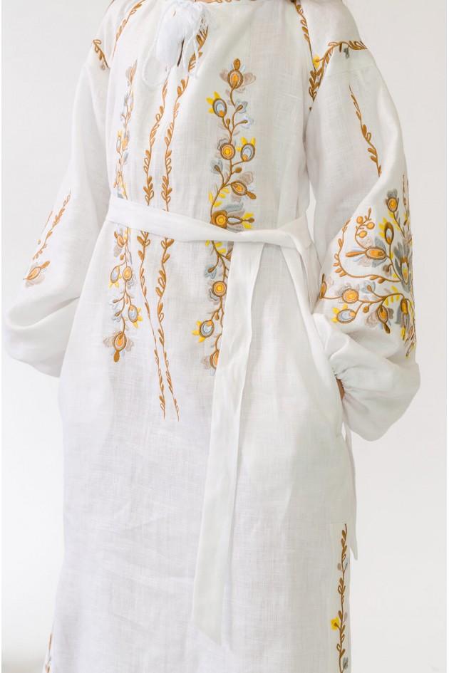 Вишита сукня для дівчинки White 5