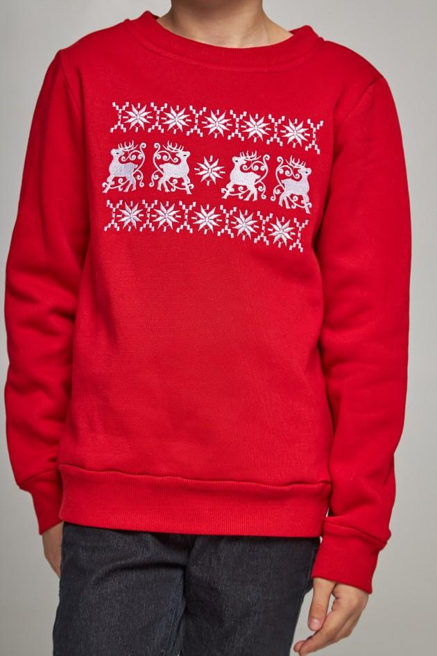 Різдвяний світшот для хлопчиків з оленями