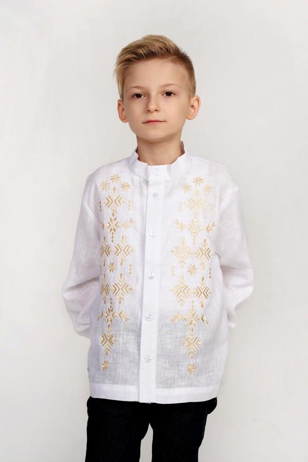 Дитяча вишиванка для хлопчика біла
