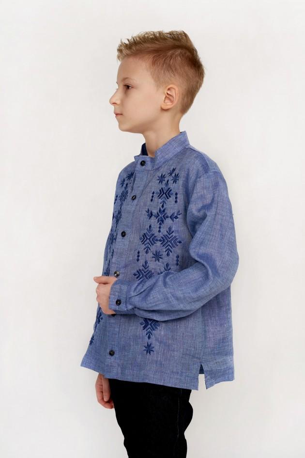 Дитяча вишиванка для хлопчика джинс