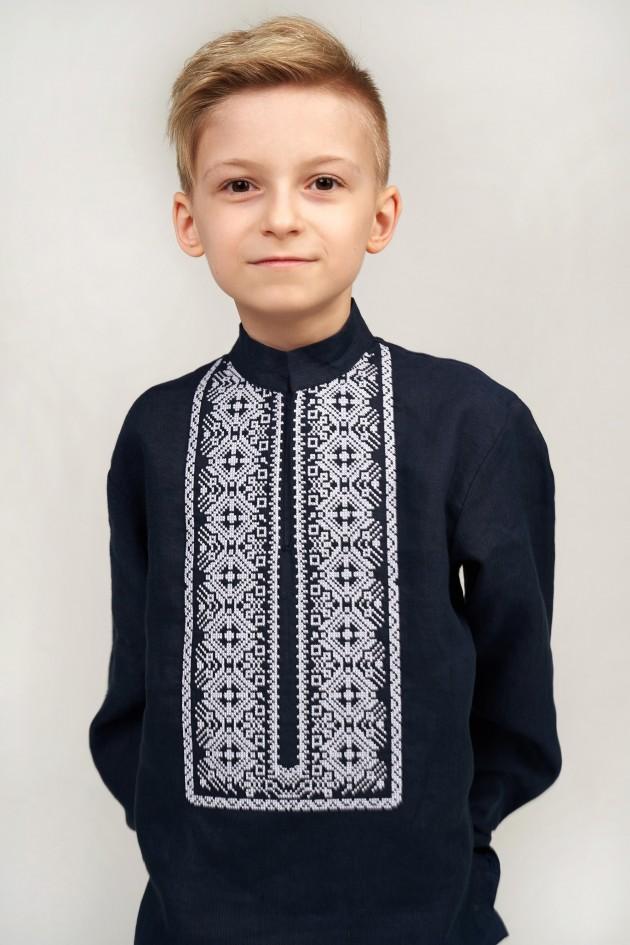 Дитяча вишиванка для хлопчика синя
