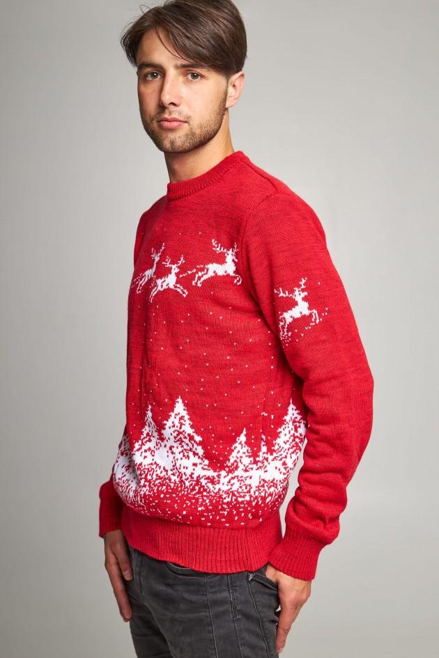 Новорічний в'язаний светр з Оленями 1