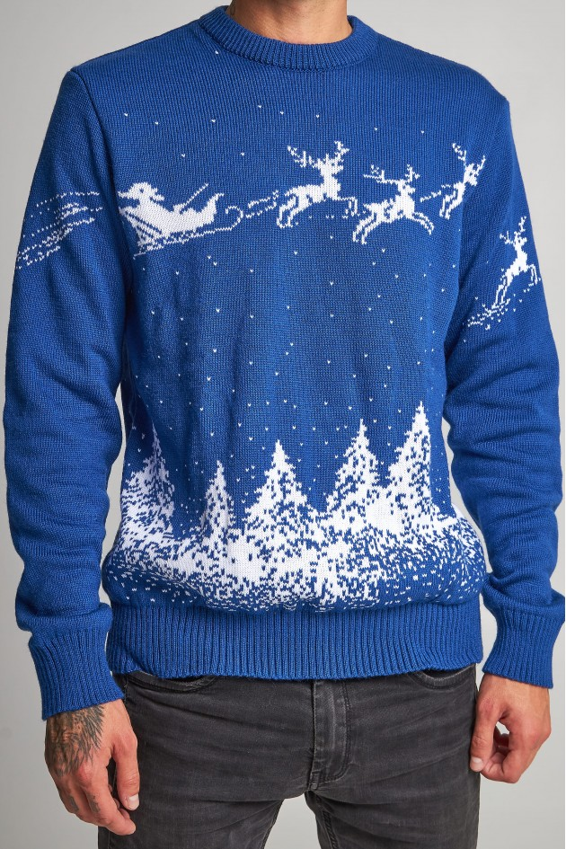 Новорічний в'язаний светр з Оленями 3