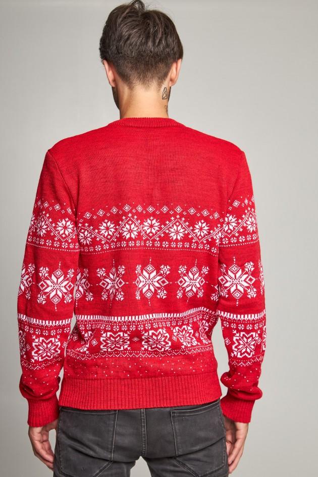 Новорічний в'язаний светр з Оленями 6
