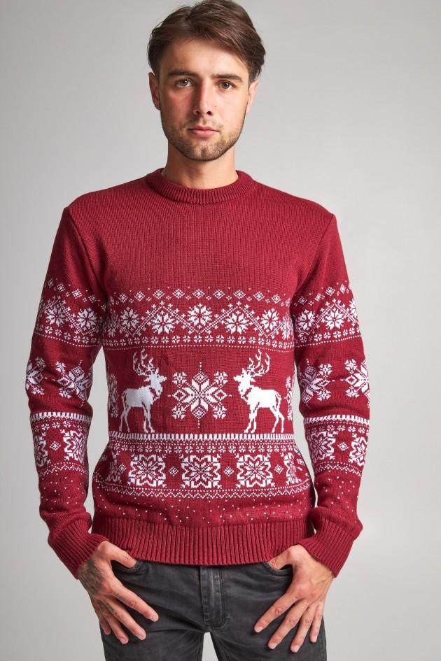 Новорічний в'язаний светр з Оленями 8