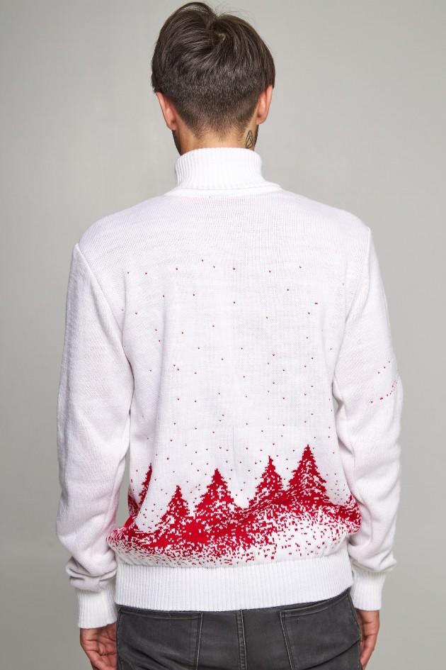 Новорічний в'язаний светр з Оленями 9