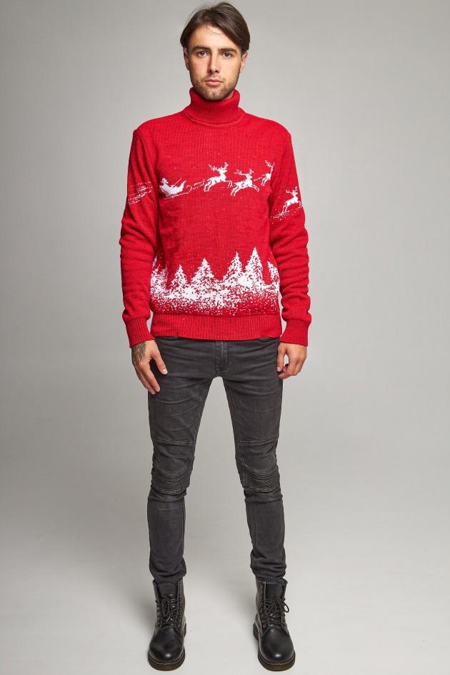 Новорічний в'язаний светр з Оленями 10