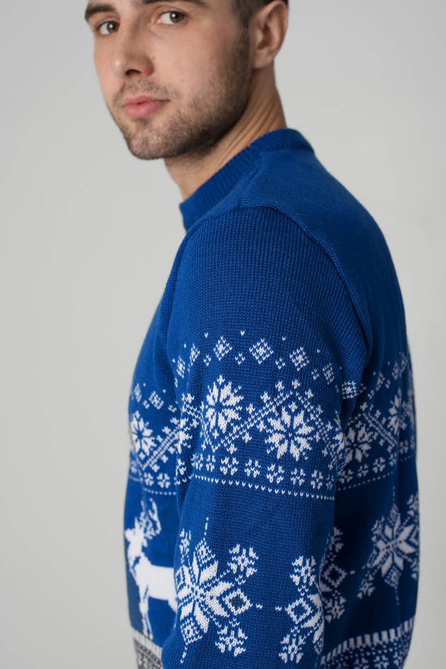 Новорічний в'язаний светр з Оленями 4