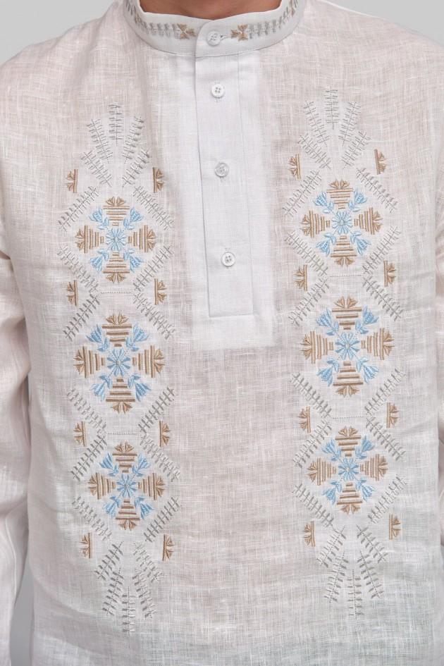 Чоловіча вишита сорочка вишиванка White 6