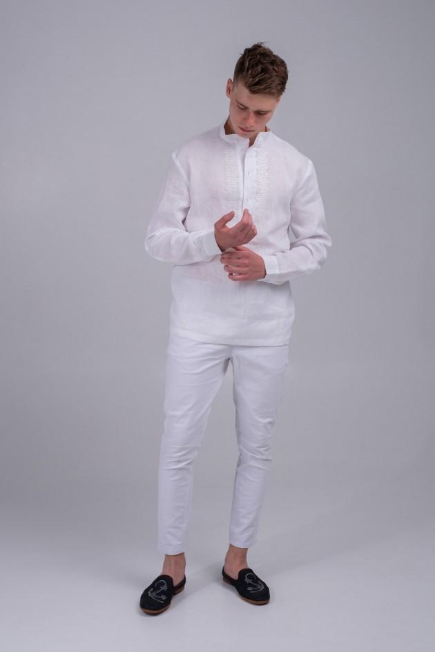Чоловіча вишита сорочка біла