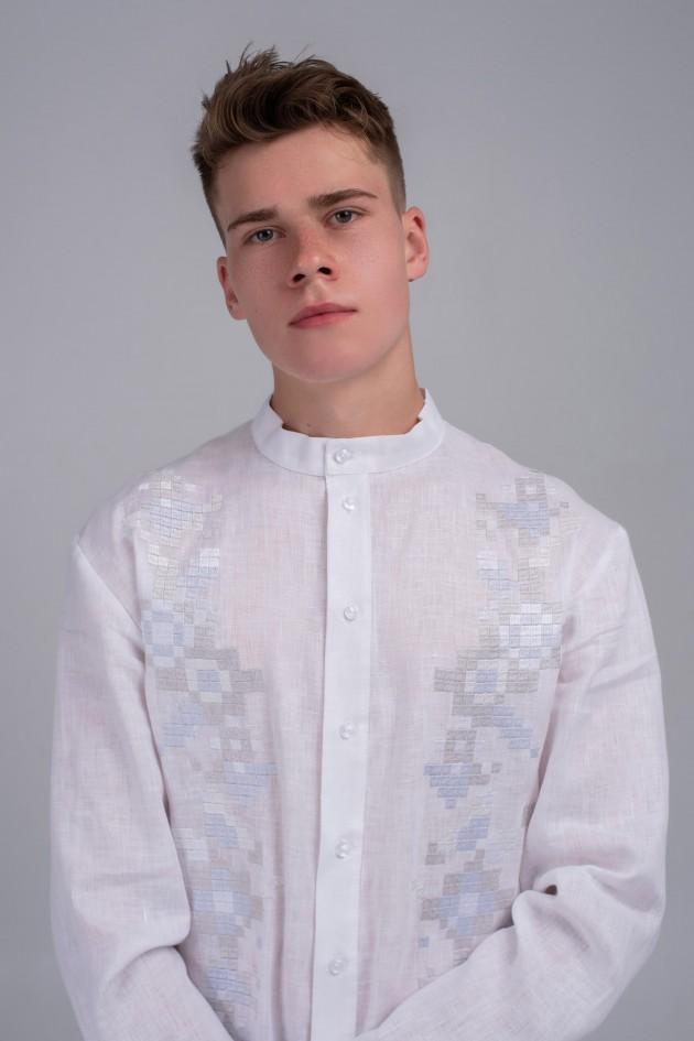 Чоловіча вишита сорочка біла White