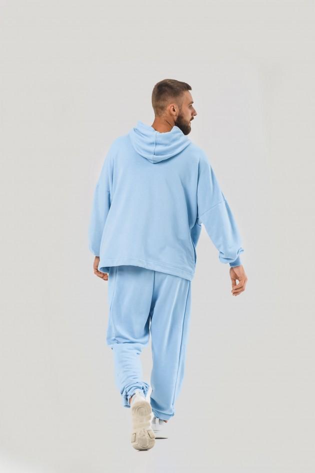 Худі блакитного кольору