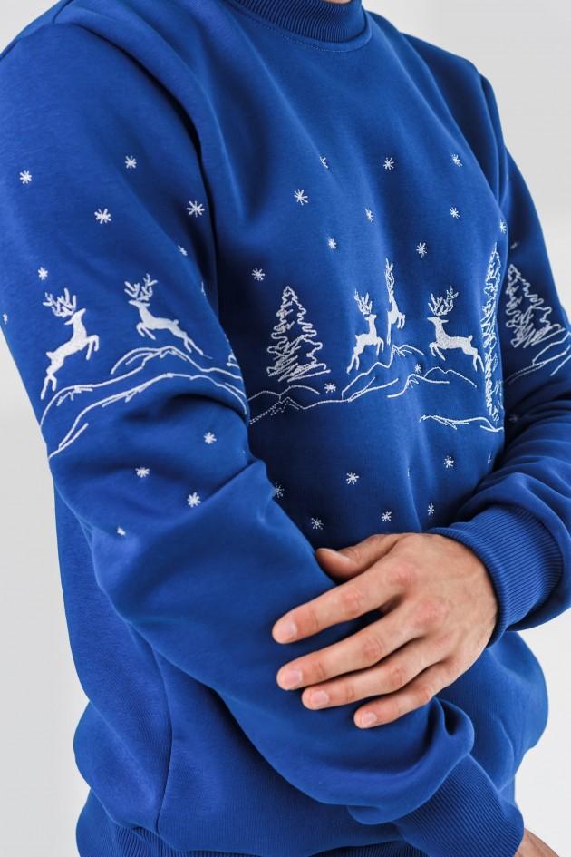 Чоловічий новорічний світшот з оленями