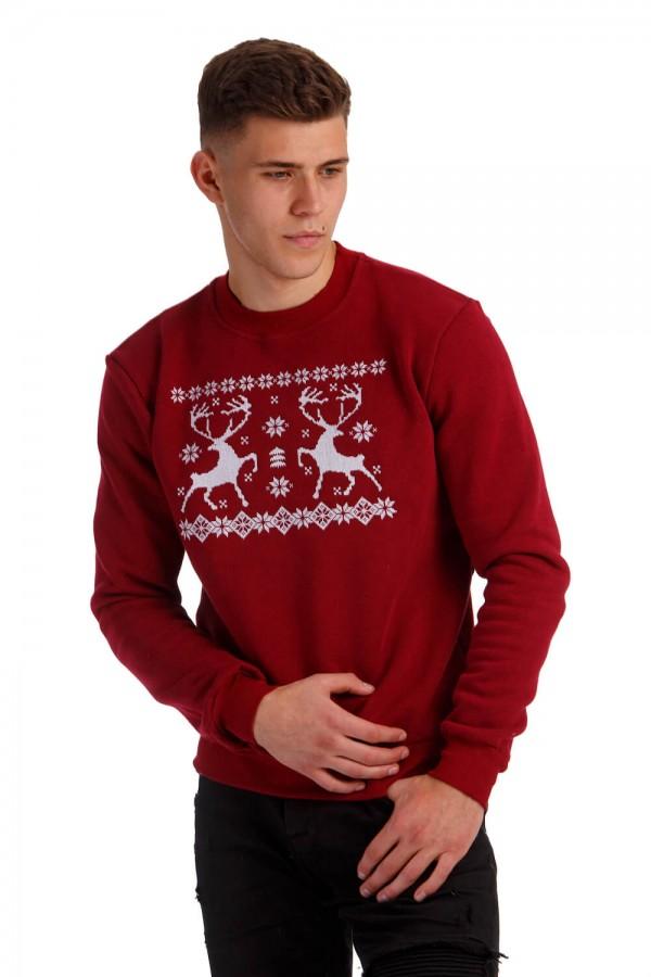 Різдвяний чоловічий світшот з оленями