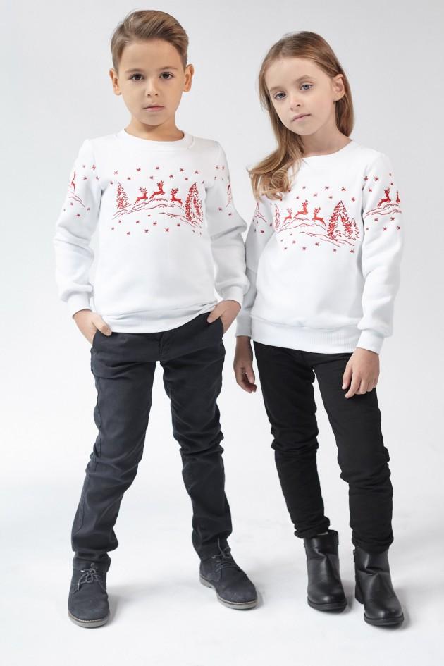 Різдвяний світшот для хлопчика Олені White