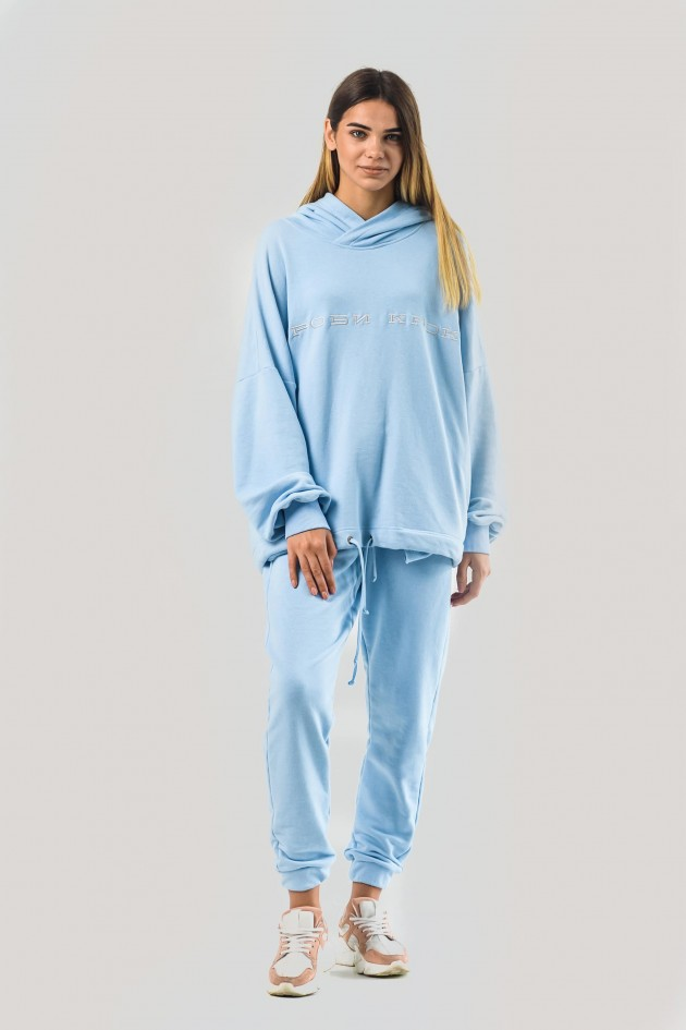Жіночий костюм худи оверсайз блакитний