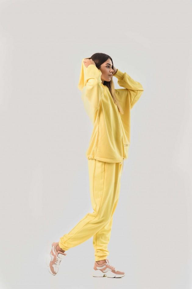 Жіночий костюм худи оверсайз жовтий