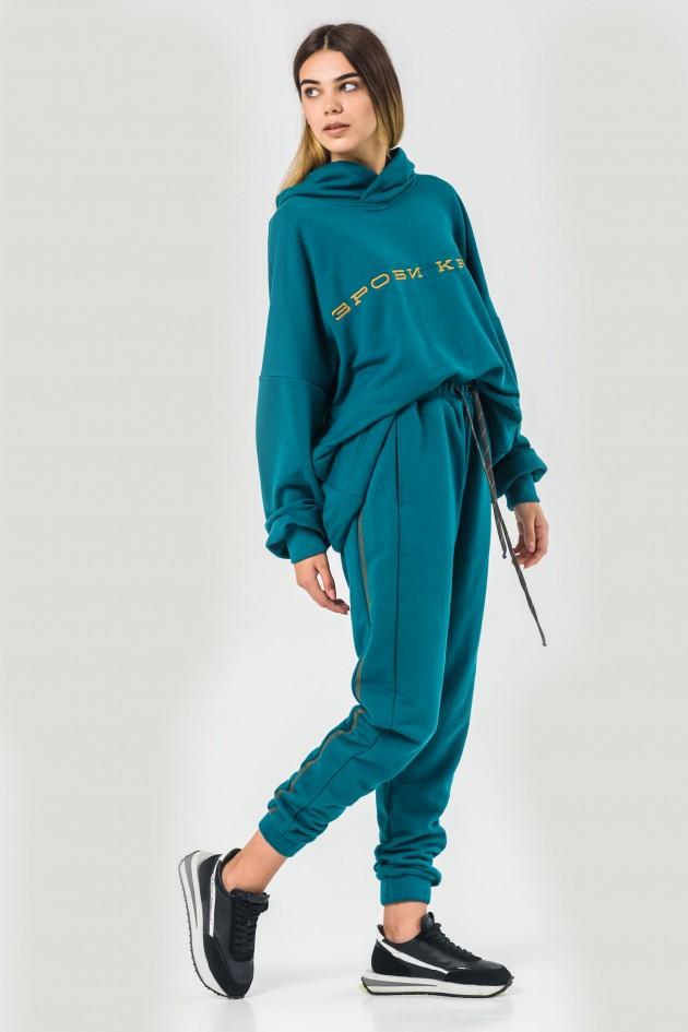 Жіночий костюм худи оверсайз морська хвиля