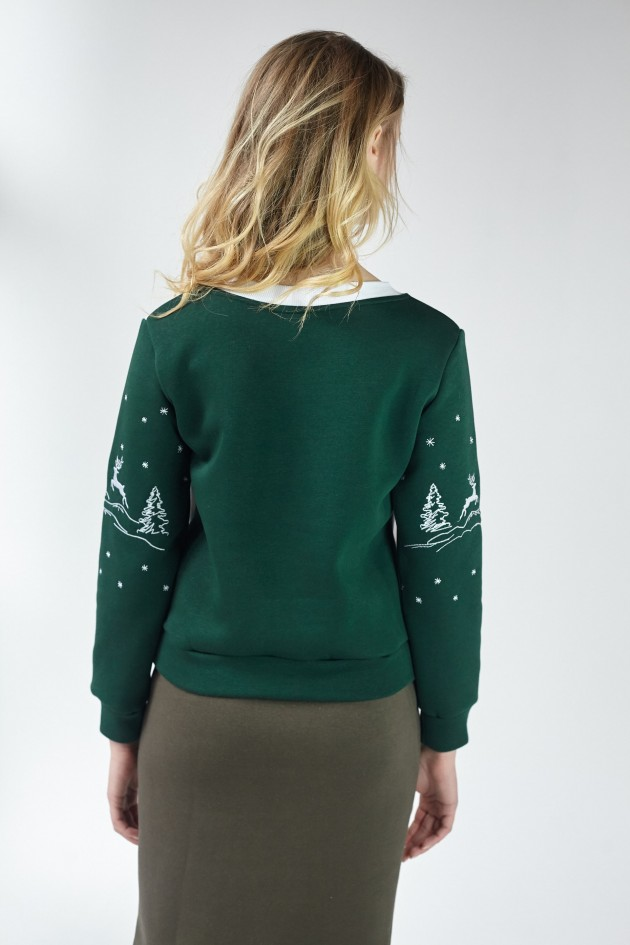 Новорічні светри для двох з Оленями
