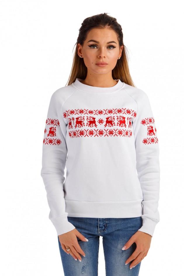 Жіночий різдвяний світшот з оленями