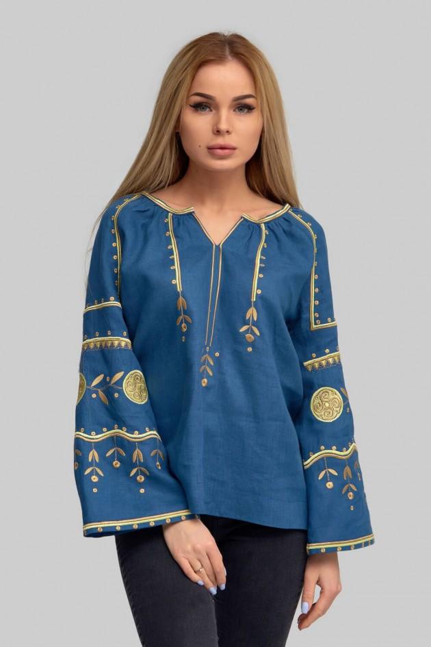 Жіноча вишиванка блуза Blue 2