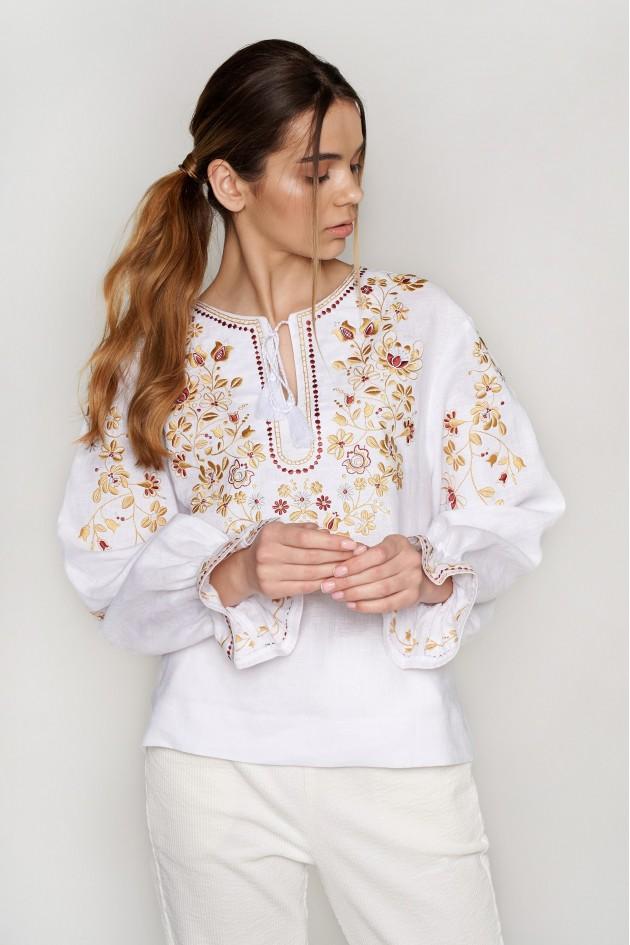Жіноча вишиванка блуза White 7