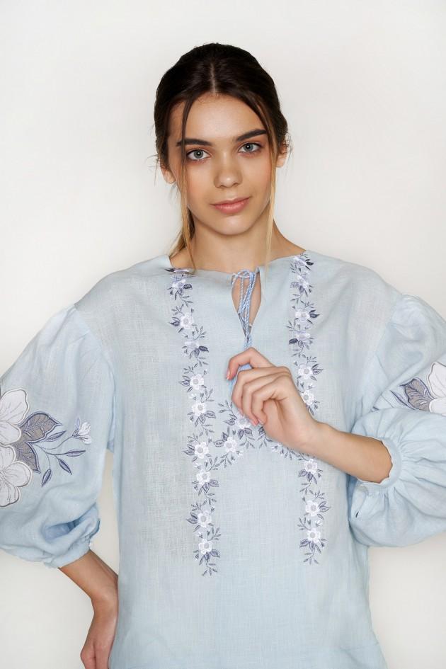 Жіноча блуза з аплікацією Pale Blue
