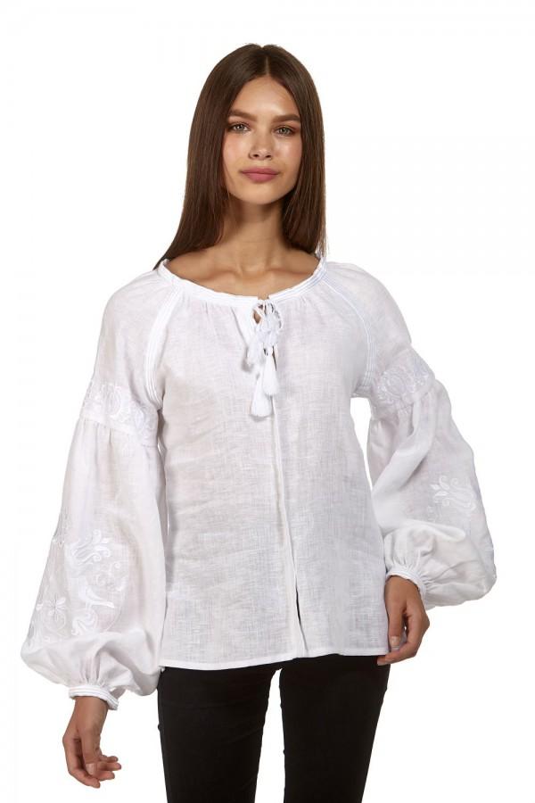 Жіноча біла блуза, з білою вишивкою White