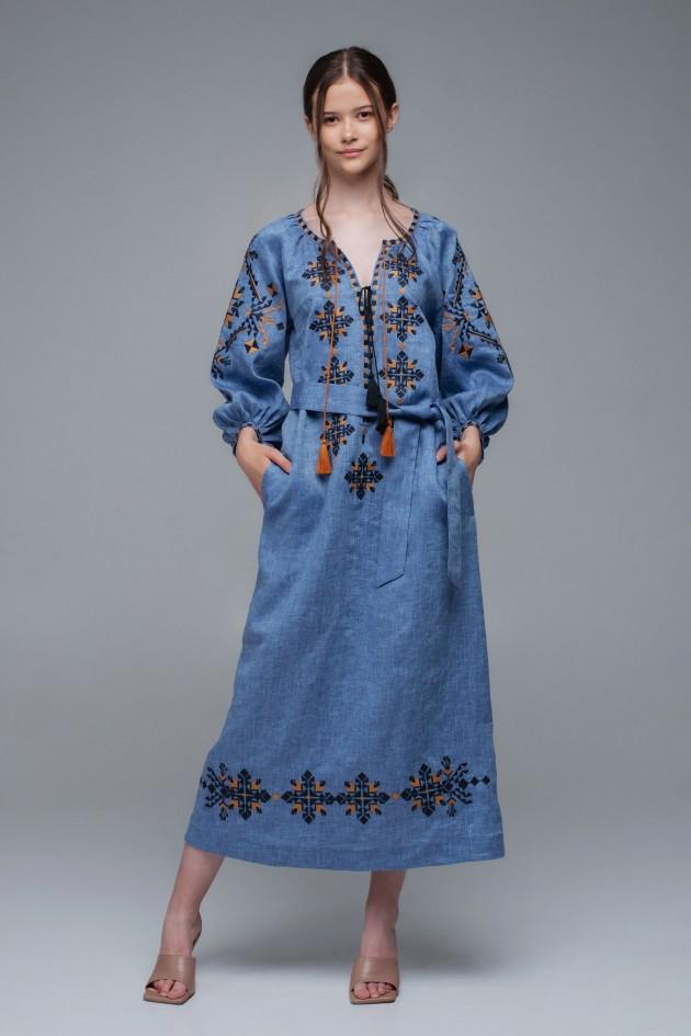 Жіноча вишита сукня Denim