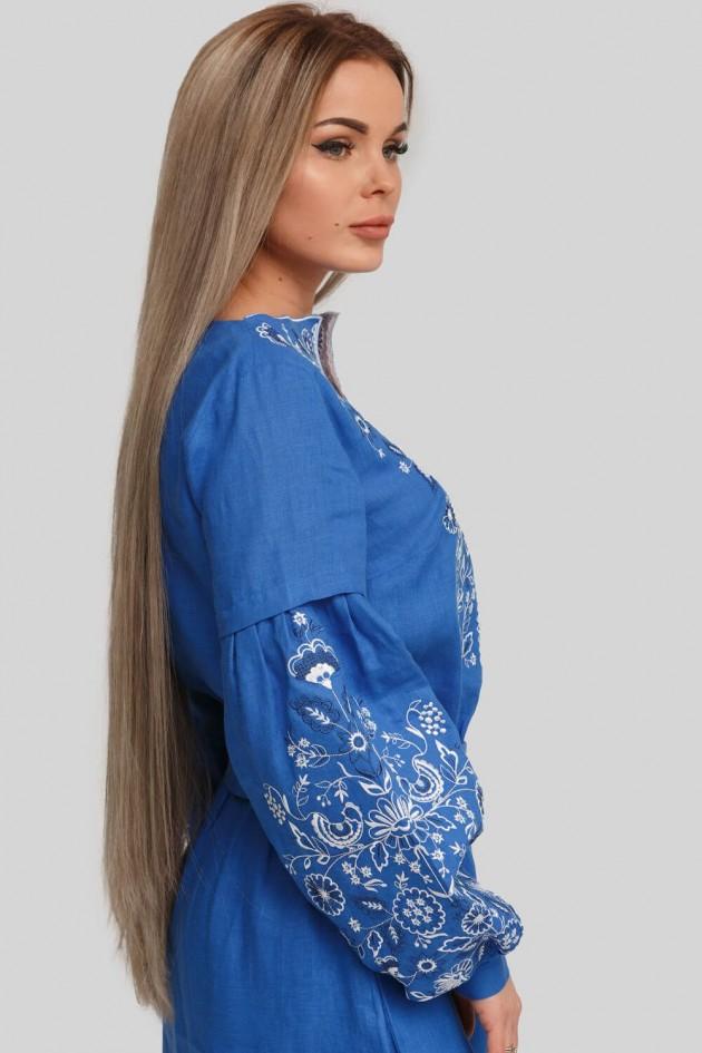 Женское вышитое платье Blue