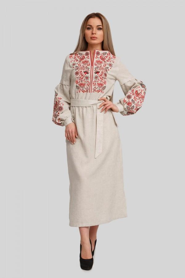 Жіноча вишита сукня Beige