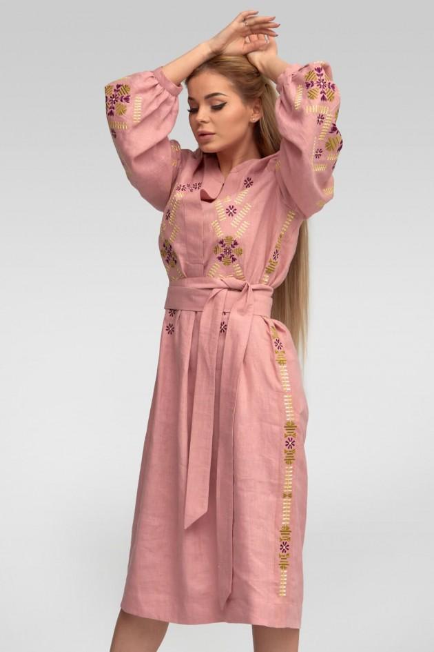 Жіноча вишита сукня Amaranth Pink