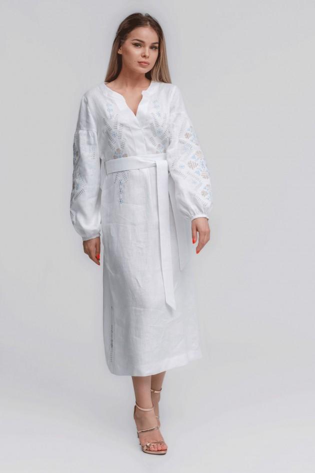 Жіноче вишите плаття White Трійця