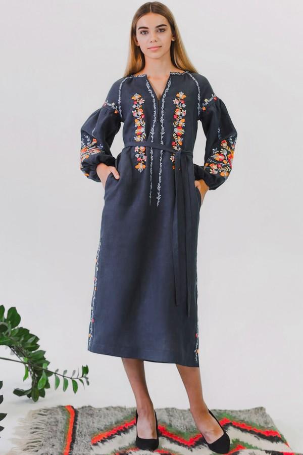 Жіноча вишита сукня Gray 2