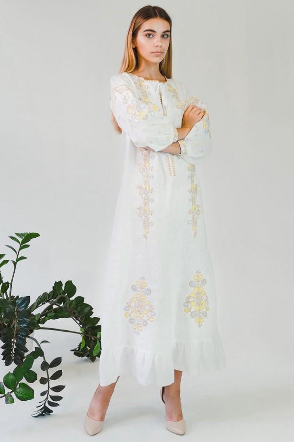 Жіноча вишита сукня White 4