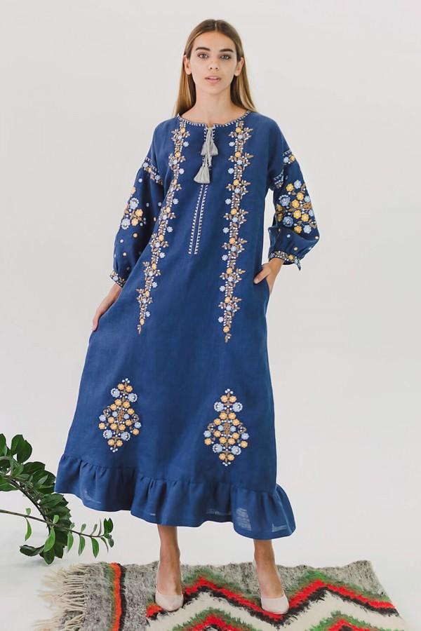 Жіноча вишита сукня Blue 3