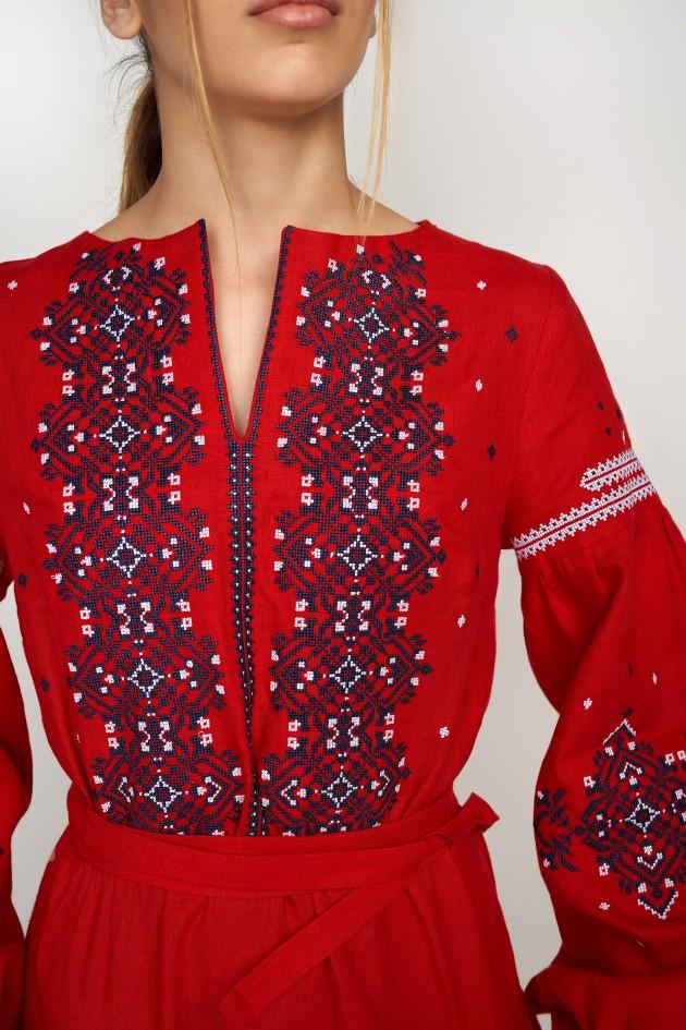 Жіноча вишита сукня Red
