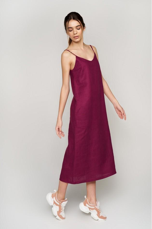 Жіноча вишита сукня на бретелях Plurm