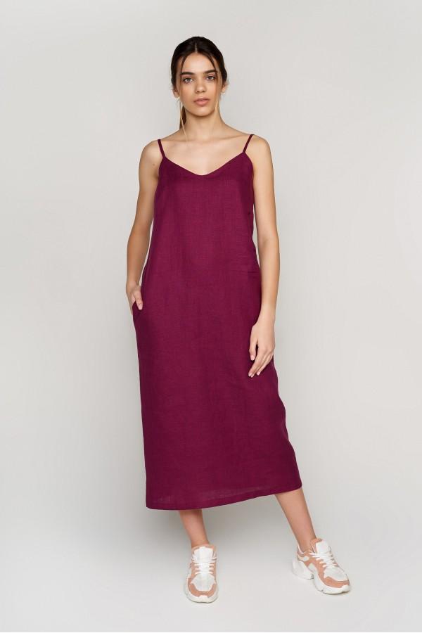 Женская вышитая платье на бретелях Plurm