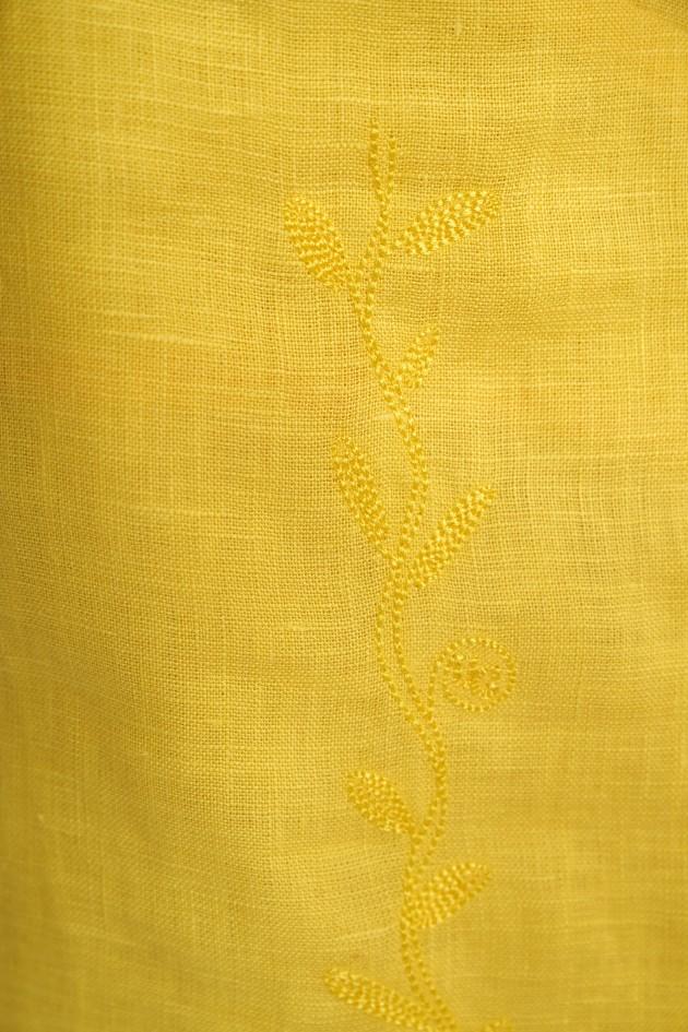 Жіноча вишита сукня на бретелях Yellow